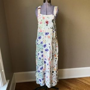 Vtg 90s Dress M boho hippie patchwork floral